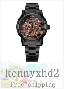 SLZ04Winner мужская мода досуг римские цифровые ажурные гальванические вольфрамовые стальные ручные механические часы