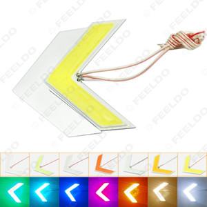20шт Auto COB 18SMD 18LED Стрелки лампы ОГМ светодиодные панели автомобиля Боковые зеркала сигнал поворота свет 7-Color # 1437