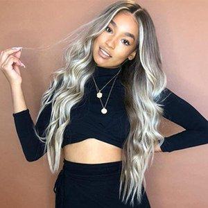 Fashion European American Wig female chemical fiber hair matte high temperature silk long curly hair mid-point wigs