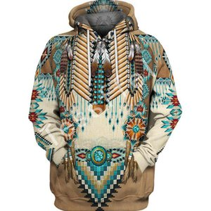 Tessffel Yerli Hint Yeni Moda Harajuku 3D tam Baskılı Hoodie / Kazak / Ceket / Erkek Kadın hiphop gündelik fit tarzı-2 CJ1191115