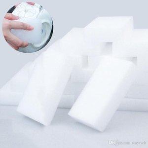 100Pcs Magic Sponge White Melamine Sponge Eraser For keyboard Car kitchen Bathroom Cleaning Melamine Clean High Desity 10x6x2cm