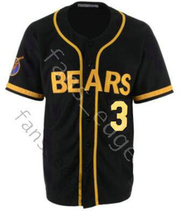 Bad News Bears Jersey Movie 1976 Chico's Bail Bonds 3 Kelly Leak Baseball Black Color Stitched Jerseys Size S-XXXL Free Shipping