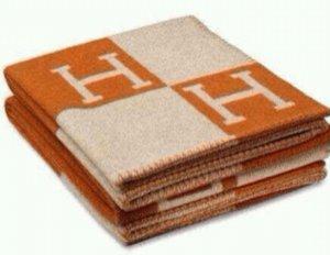 Meilleur Quailty Woll H Couverture orange, 130160cm cachemire tricoté Throw Blanket Crochet Laine Plaid pour Couch / Chaise / causeuse / Couverture Camping Car