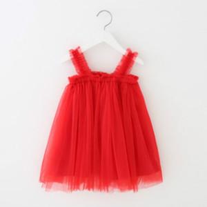 Los niños de lujo del diseñador Suspender las muchachas del vestido princesa de la marca Vestido Niña acoplamiento de la manera vestido de la falda del verano de los cabritos Faldas Top Quanlity
