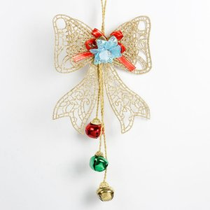 Christmas Tree Topper Hanging Bow With Three Bells Treetop Xmas Tree Decorations For Home Decoracion Navidad Kerst Decoratie