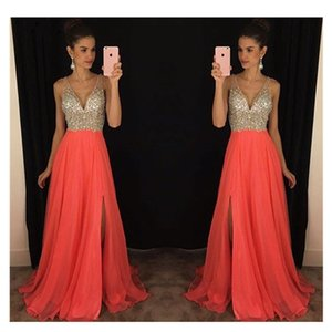 Beautiful Dress Beading Prom Dresses Sleeveless Evening Gown A-line Evening Party Gowns