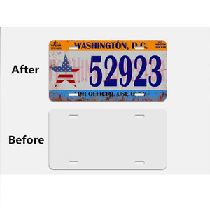Sublimation car licence blank metal car license plate item product heat heat transfer printing diy custom consumables