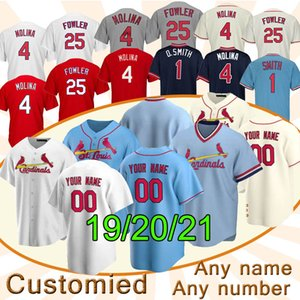 St. Louis Kardinal Brauch Baseball-Jersey 46 Paul Goldschmidt 4 Yadier Molina 1 Ozzie Smith 25 Dexter Fowler Baseballhemden Top-Qualität