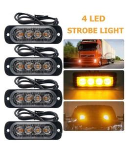 4Led Araba Kamyon polis acil ışıkları İtfaiyeci Işıkları Yanıp 18 W Araba-Styling Ambulans Polis Işık Strobe Uyarı Işığı 12 V-24 V