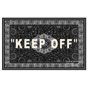 Joint ofof whhite cashew flower keep off carpet European style street carpet floor mats Trendy designer ikk Carpet decorations