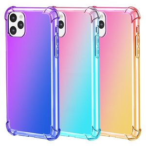Rainbow TPU case for iPhone 11 gradient color transparent cover for iPhone 11 Pro Max XR XS MAX 8 7 6 5 s plus