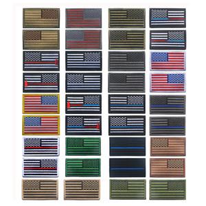 Gestickte USA US-Flagge Linke Schulter rechte Schulter Abzeichen Set Taktische Patches US Amerika Flag Armband USA Flag Badge