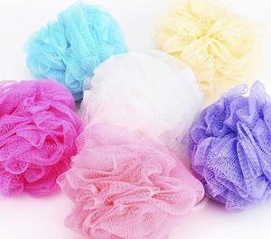 Ducha de baño esponja vegetal acoplamiento de la bola de esponja Leche Accesorios de malla de nylon cepillo de ducha bola 5g suave cuerpo de limpieza del cepillo de malla