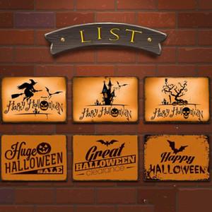 Halloween Carteles de chapa de calabaza pared del arte retro de chapa por muro de hierro Pintura placas Bar Pub Restaurante Decoración 20 * 30 cm LXL464-A