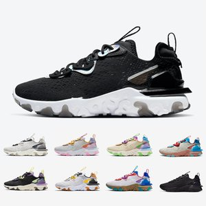 Nike React Vision Black Iridescent React Vision mens running shoes Gravity Purple Honeycomb Photon Dust Saffron Desert men women sports designer sneakers