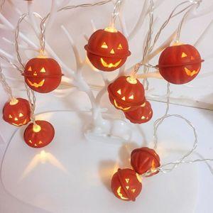 Хэллоуин тыква светодиодные струнные фонари на батарейках праздничная вечеринка садовые фонари огни Рождество Хэллоуин декор