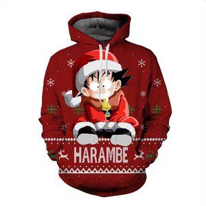 Promotional Men's Anime Dragon Ball Goku Hoodie Men's Women's Winter Sweatshirt 3D Printed Hooded Oversized Sweatshirt Hoodie