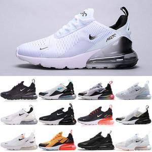 Nike air max 270 27c 2020 Üçlü Siyah Çekirdek beyaz Erkekler Kadınlar Koşu ayakkabıları Klasik OG Regency Mor Trainer Zeytin Tiger Bred doğa sporları Spor ayakkabılar 36-45