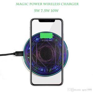 Mini Glowing Tableau magique chargeur sans fil Qi 10W haute puissance rapide Chargeur sans fil pour iPhone 8 X XS XR Samsung S6 S7 S8 S9 S10 Note 8 9