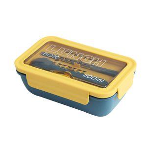 Мода все-в-одном Lunch Box с Ложка Chopstick Современные PP упл.кольцо Design Bento Box FH08