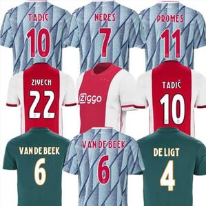 ajax pull-over rouge 2021 Accueil Soccer Jersey 20 21 TADIC VAN DE BEEK ZIYEC NERES AJAX de pied shirt Maillot de football HUNTELAAR