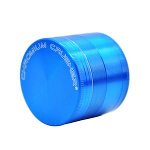 Concasseur de chrome de haute qualité 4 couches meuleuses pour grilles de tabac de tabac d'herbes 50mm Diamètre Grinders 4 couleurs Meuleuses de poivre