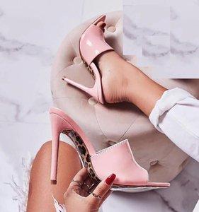 orteils couleur bonbon pointu imprime leoaprd talons hauts sandales semelle sandales de luxe sandalias mules de taille 35 à 40