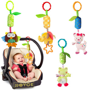 Cartoon Developmental Baby Toys Infant Mobile Plush Baby Toy Bed Wind Chimes Rattles Bell Toy Baby Crib Bed Hanging Bells Toys