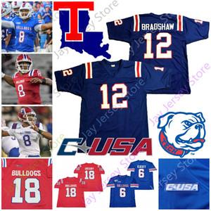 Louisiana Tech Bulldoglar Futbol Jersey NCAA Kolej Terry Bradshaw J'Mar Smith Justin Henderson Stanley Mason Jay Powell Hardy Hebert Dancy