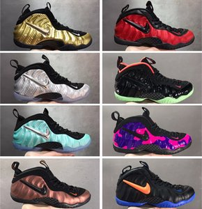 Air Foamposite One Pro Shooting Stars Habanero Red Metallic ouro Penny Hardaway Basketball Shoes CNY espuma Alternate Olympic Sports Sneakers