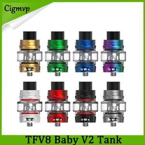 Rauchen TFV8 Baby V2 Sub Ohm Tank 5ml Zerstäuber mit Baby V2 A1 A2 Spulenkopf 510 Gewindebirne Glas 0266255