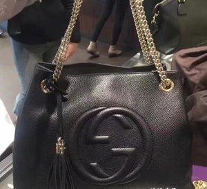 Дизайнер-2018NEW Top HOT!Классическая сумка с цепочкой из телячьей кожи, которую носят в руке состаренные золотые металлические украшения, поставляется с пыльным мешком #G88G6