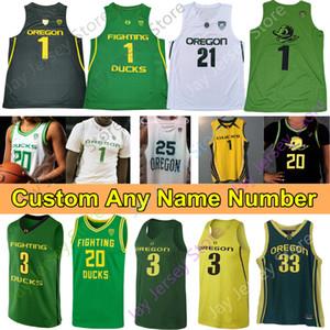 2020 Oregon Ducks Basketball Jersey NCAA Payton Pritchard Anthony Mathis Chris Duarte Juiston Francis Okoro Patterson Richardson Bol