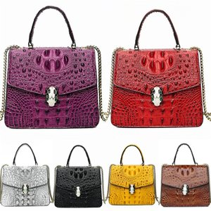 2020 High Quality Luxury Famous Women Bags Lady Thick Material Pu Leather Crocodile Shoulder Bag Famous Designer Bags Bag Female#730
