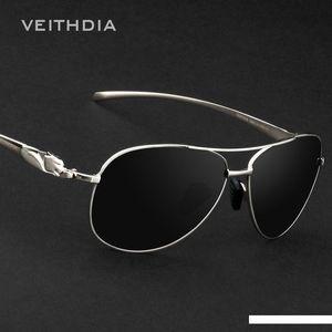 Veithdia Marca Moda Polarized Lens Sunglasses Leopard Chefe Designer óculos de sol masculino Espelho Eyewear For Men Gafa 2468SH190721