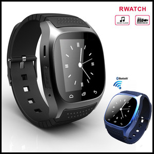 Ucuz M26 Bluetooth Smart İzle spor Smartwatch Kol + LED Alitmetre Müzik Çalar Pedometre Snyc iphone X Samsung xiaomi