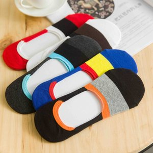 31003 sports casual color matching men's Silicone invisible socks silicone all invisible cotton men's socks