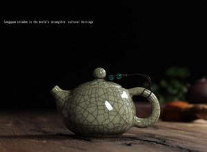 Chinese office small teapot ice cracked glaze single pot purple sand ceramic Kung Fu tea pot filter home drink 140ML