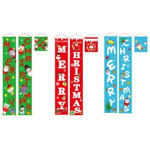 С Рождеством Дверь Куплет Висит Украшения Дома Настенная Живопись Новый Год Рождество Крытый Настенный Кулон Открытый