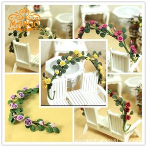 1: 12 Dollhouse Dollhouse Mini Plant Clay Handmade Flower Vine Rose China Rose String Enchanting Multi-color