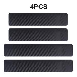 2019 NEW 4PCS 60 x 6.7cm Car Stickers Universal Sill Scuff Anti Scratch Carbon Fiber Auto Door Sticker Decals Car Accessories