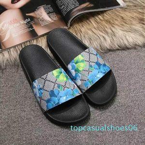 Männer Frauen Slide Sandalen Designer-Schuhe Luxus Slide Summer Fashion breite flache Slippery mit dicken Sandalen Slipper Flip Flops Größe 36-45 t06