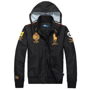 Rivestimento dei vestiti nuovi uomini di modo hoodies casuali cappotto di sport Tuta Isola maschio Designer giacca a vento giacca a vento all'aperto di pietra Sportswear