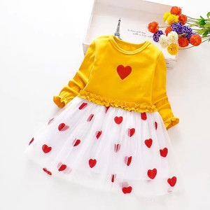 Baby Dresses For Girls Christmas New Year Costumes Long Sleeved Knit princess dress Lotus Leaf Love Doll Dress Child Clothing
