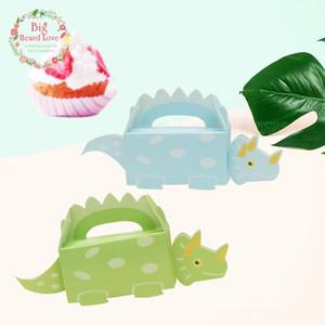 100pcs Scatola del partito di dinosauro Candy bambino Cut Animal carta Confezioni Regalo Decorazione Per Bambini festa di compleanno Diy Forniture per neonati Doccia Yh13
