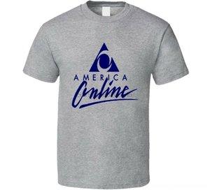 America Online Vintage Aol T-shirts Vêtements Polos Logo Rétro cool T-shirt Amérique en ligne Vintage Aol T-shirts Vêtements pour hommes Logo Polos C