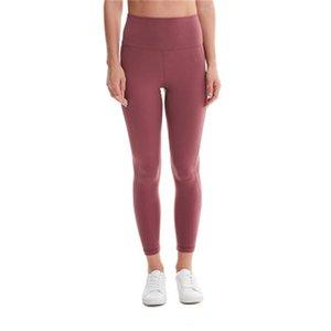 LU Donne Pantaloni Yoga Pure Color pantaloni morbidi signora Leggings Gym Sports Wear abbigliamento primavera H19 74ly all'ingrosso