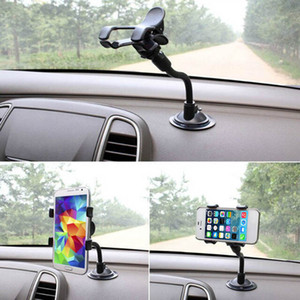 휴대 전화 GPS 자동차 도구 미끄럼 방지 기업 흡입 컵 지원을위한 자동차 유니버설 앞 유리 마운트 브라켓 360도 자동차 홀더