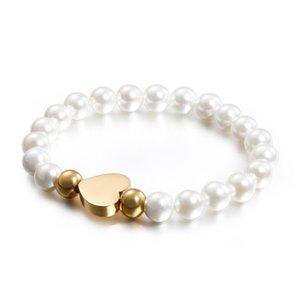 Bracelet nouvel amour bracelet perle shell européens et américains bracelet en acier inoxydable dames créatives