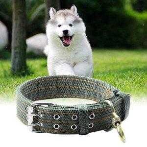 Küçük Büyük Köpekler Ordusu Yeşil Tuval Naylon Köpek Yaka Pet Köpek Eğitim Ürün için Köpek yaka
